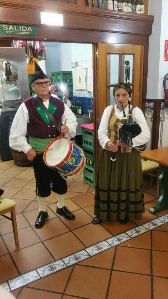 Traditional Asturian attire and musical instruments - look familiar?